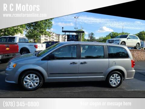 2014 Dodge Grand Caravan for sale at R C Motors in Lunenburg MA