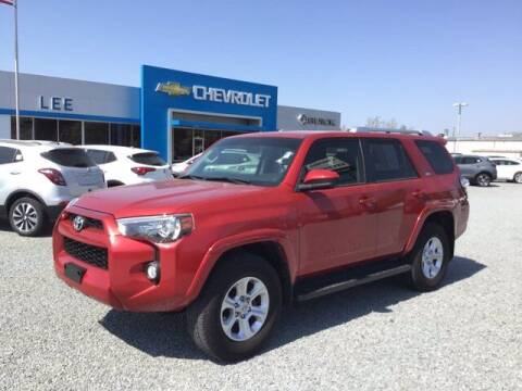 2017 Toyota 4Runner for sale at LEE CHEVROLET PONTIAC BUICK in Washington NC