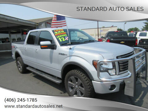 2012 Ford F-150 for sale at Standard Auto Sales in Billings MT