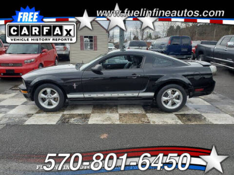 2008 Ford Mustang for sale at FUELIN FINE AUTO SALES INC in Saylorsburg PA