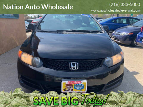 2009 Honda Civic for sale at Nation Auto Wholesale in Cleveland OH