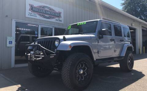 2015 Jeep Wrangler Unlimited for sale at Bellus Motors LLC in Camas WA