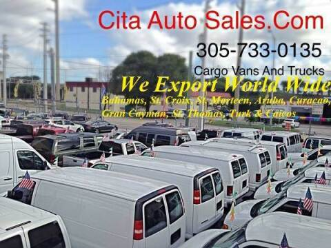 2012 FORD ECONOLINE  EXPRESS TRANSIT PROMSTER CARGO VAN NV for sale at Cita Auto Sales in Medley FL