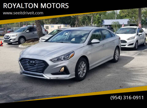 2019 Hyundai Sonata for sale at ROYALTON MOTORS in Plantation FL