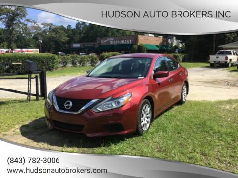 2016 Nissan Altima for sale at HUDSON AUTO BROKERS INC in Walterboro SC