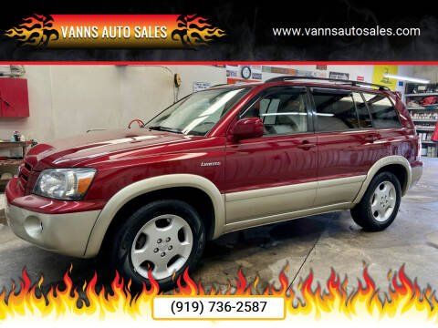 2005 Toyota Highlander for sale at Vanns Auto Sales in Goldsboro NC