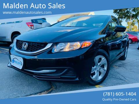 2015 Honda Civic for sale at Malden Auto Sales in Malden MA