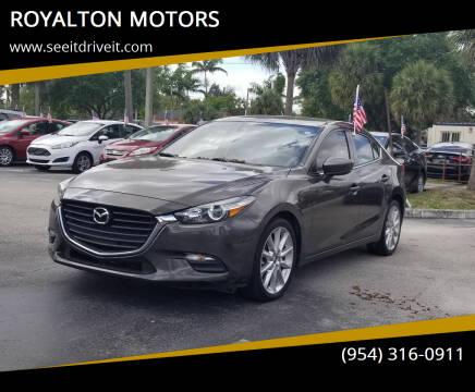 2017 Mazda MAZDA3 for sale at ROYALTON MOTORS in Plantation FL