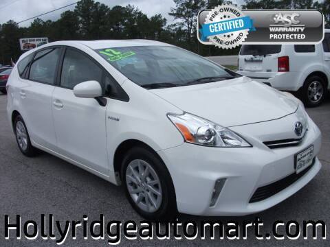 2012 Toyota Prius v for sale at Holly Ridge Auto Mart in Holly Ridge NC