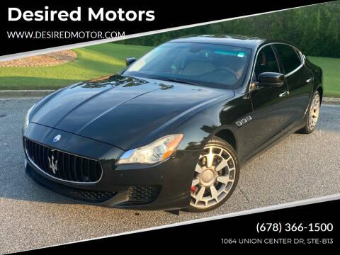 2014 Maserati Quattroporte for sale at Desired Motors in Alpharetta GA