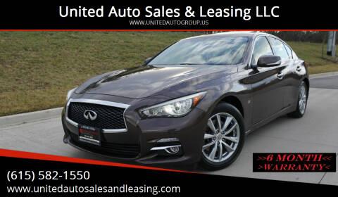 2014 Infiniti Q50 for sale at United Auto Sales & Leasing LLC in La Vergne TN
