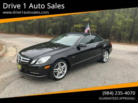 2012 Mercedes-Benz E-Class for sale at Drive 1 Auto Sales in Wake Forest NC