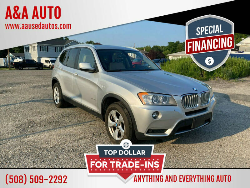 2012 BMW X3 for sale at A&A AUTO in Fairhaven MA