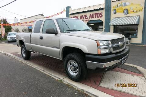 2004 Chevrolet Silverado 2500HD for sale at PARK AVENUE AUTOS in Collingswood NJ