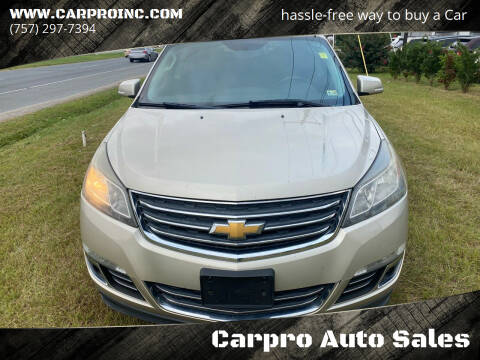 2013 Chevrolet Traverse for sale at Carpro Auto Sales in Chesapeake VA