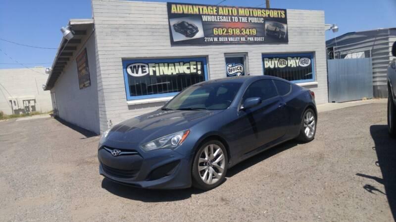 2013 Hyundai Genesis Coupe for sale at Advantage Motorsports Plus in Phoenix AZ
