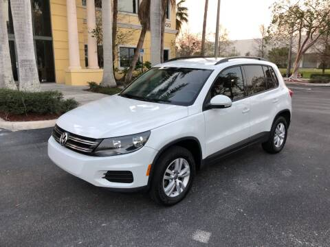 2016 Volkswagen Tiguan for sale at EUROPEAN AUTO ALLIANCE LLC in Coral Springs FL