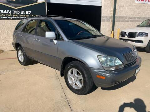 2001 Lexus RX 300 for sale at KAYALAR MOTORS in Houston TX