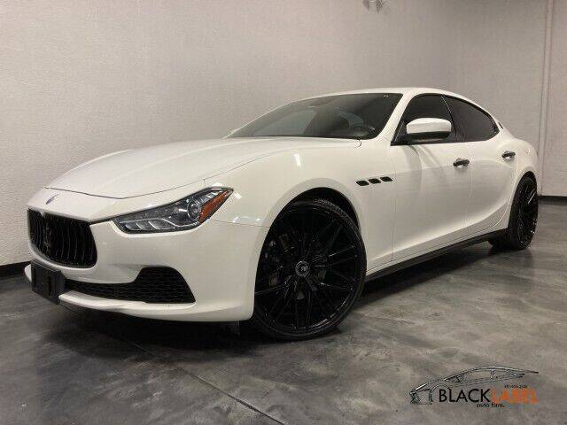2017 Maserati Ghibli for sale at BLACK LABEL AUTO FIRM in Riverside CA