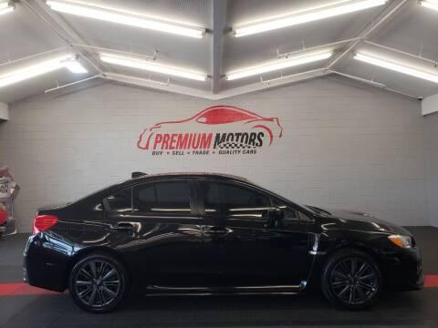 2015 Subaru WRX for sale at Premium Motors in Villa Park IL