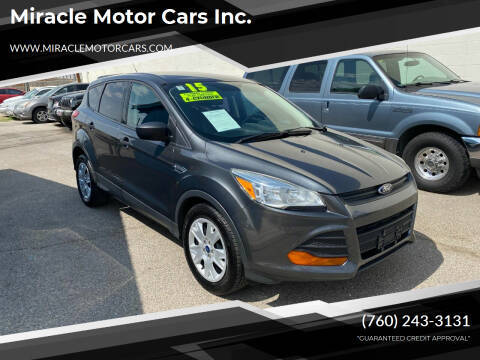 2015 Ford Escape for sale at Miracle Motor Cars Inc. in Victorville CA