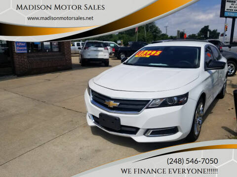 2015 Chevrolet Impala for sale at Madison Motor Sales in Madison Heights MI