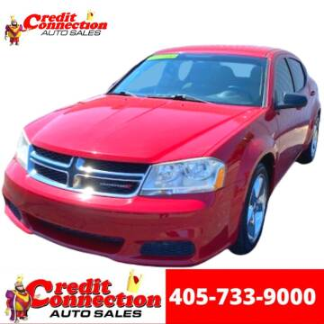 2013 Dodge Avenger for sale at Credit Connection Auto Sales in Midwest City OK