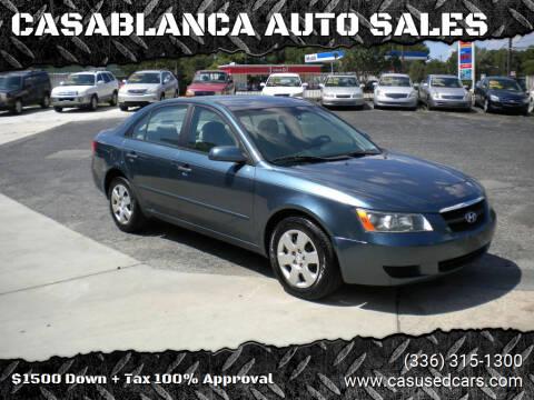2006 Hyundai Sonata for sale at CASABLANCA AUTO SALES in Greensboro NC