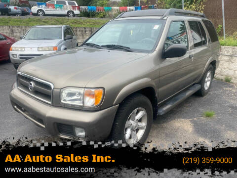 2003 Nissan Pathfinder for sale at AA Auto Sales Inc. in Gary IN