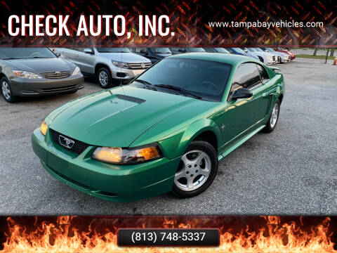 2001 Ford Mustang for sale at CHECK  AUTO INC. in Tampa FL