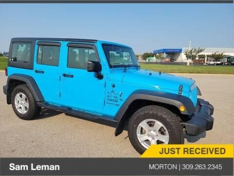 2018 Jeep Wrangler JK Unlimited for sale at Sam Leman CDJRF Morton in Morton IL