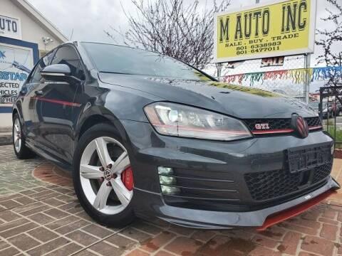 2017 Volkswagen Golf GTI for sale at M AUTO, INC in Millcreek UT