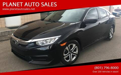 2017 Honda Civic for sale at PLANET AUTO SALES in Lindon UT