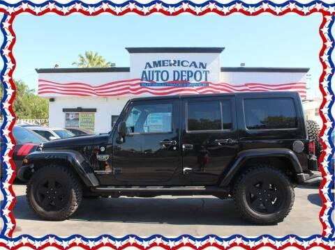 2012 Jeep Wrangler Unlimited for sale at American Auto Depot in Modesto CA
