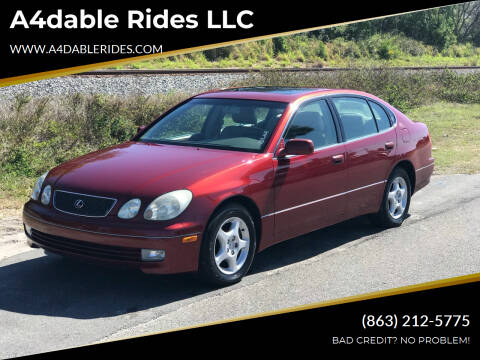 1999 Lexus GS 300 for sale at A4dable Rides LLC in Haines City FL