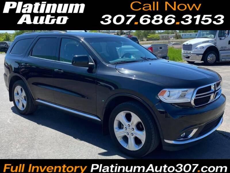 2015 Dodge Durango for sale at Platinum Auto in Gillette WY