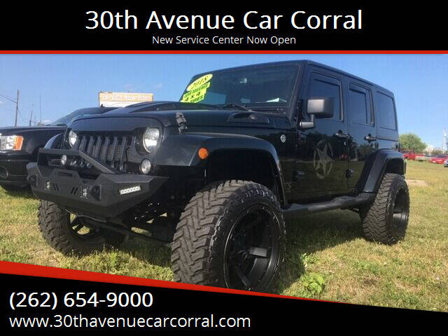 2018 Jeep Wrangler JK Unlimited for sale at 30th Avenue Car Corral in Kenosha WI