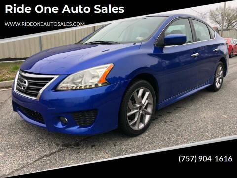 2013 Nissan Sentra for sale at Ride One Auto Sales in Norfolk VA