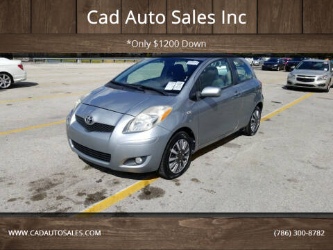 2010 Toyota Yaris for sale at Cad Auto Sales Inc in Miami FL