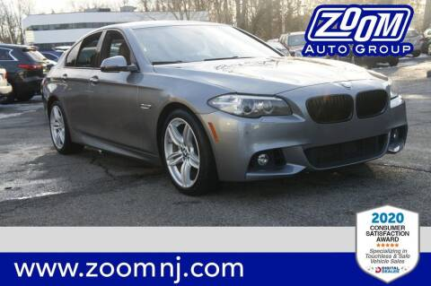 2016 BMW 5 Series for sale at Zoom Auto Group in Parsippany NJ