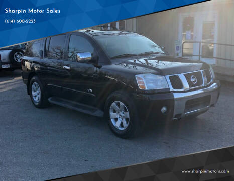 2006 Nissan Armada for sale at Sharpin Motor Sales in Columbus OH