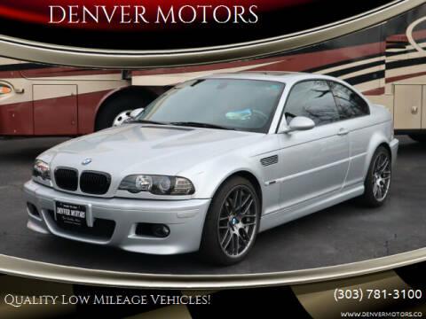 2002 BMW M3 for sale at DENVER MOTORS in Englewood CO