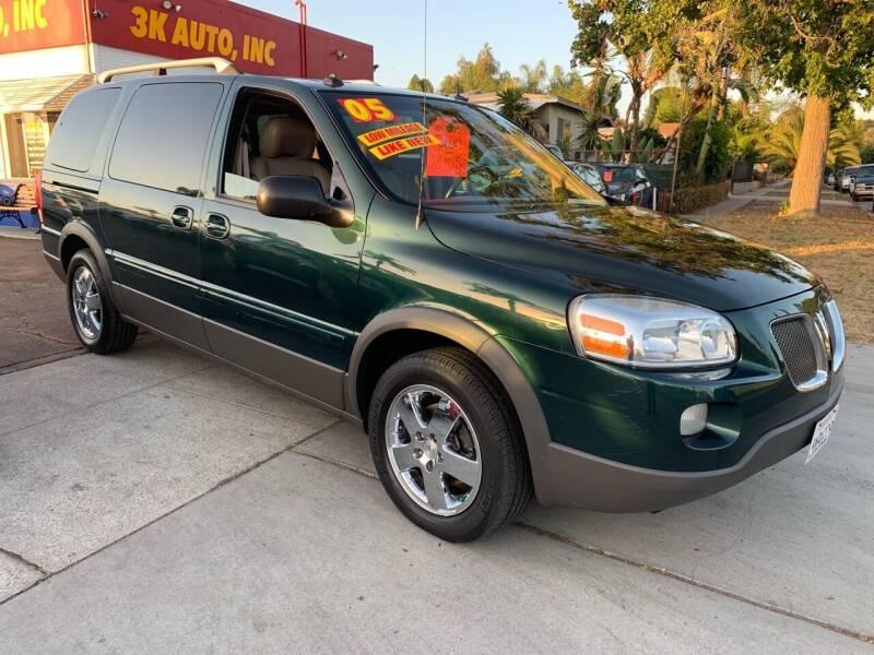 2005 Pontiac Montana SV6 for sale at 3K Auto in Escondido CA
