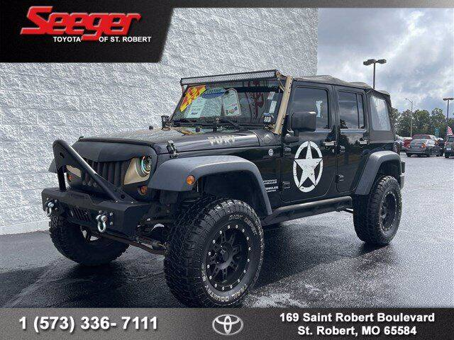 2013 Jeep Wrangler Unlimited for sale at SEEGER TOYOTA OF ST ROBERT in Saint Robert MO