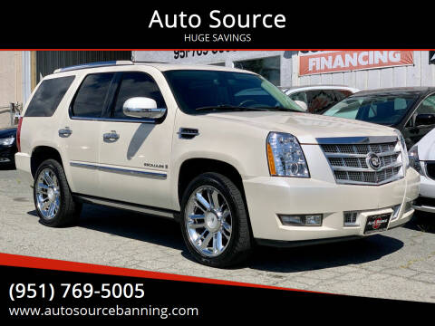2008 Cadillac Escalade for sale at Auto Source in Banning CA