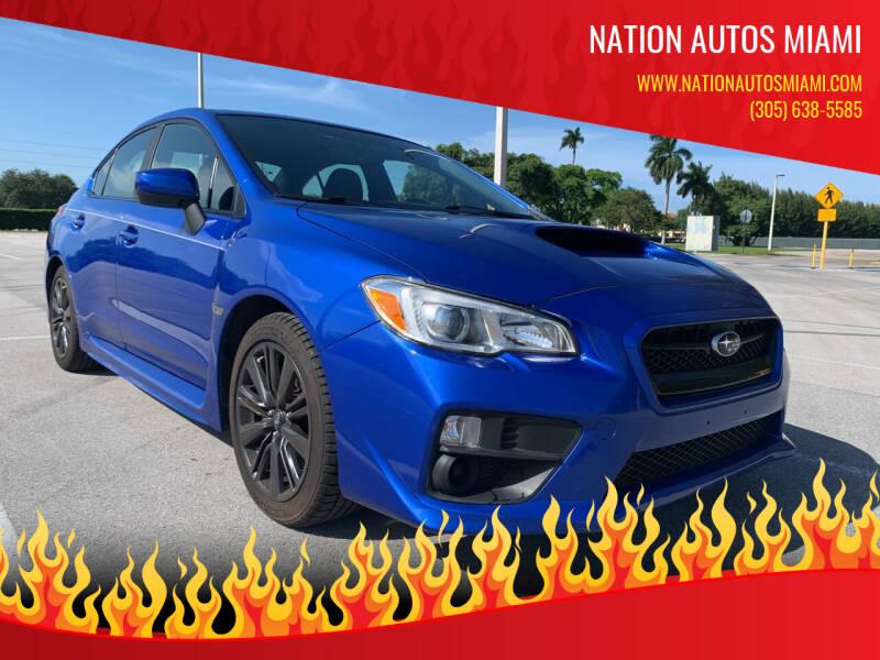 2016 Subaru WRX for sale at Nation Autos Miami in Hialeah FL