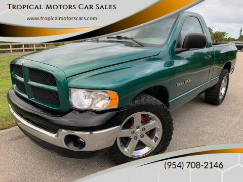 2003 Dodge Ram Pickup 1500 for sale at Tropical Motors Car Sales in Deerfield Beach FL