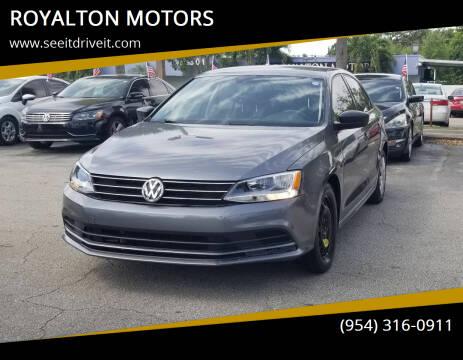 2016 Volkswagen Jetta for sale at ROYALTON MOTORS in Plantation FL
