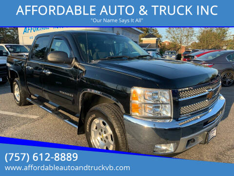 2013 Chevrolet Silverado 1500 for sale at AFFORDABLE AUTO & TRUCK INC in Virginia Beach VA