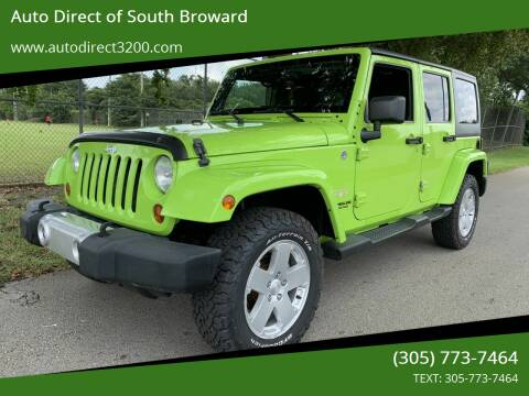 2012 Jeep Wrangler Unlimited for sale at Auto Direct of South Broward in Miramar FL